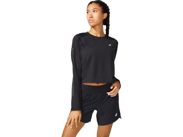 asics SMSB Run LS Top Women performance black/graphite grey